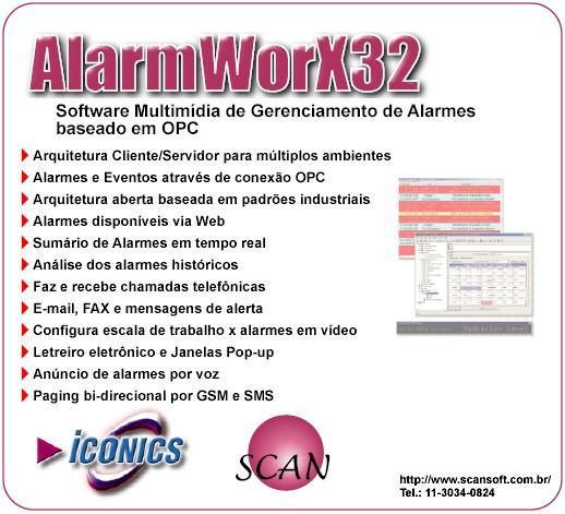 Gerenciamento de Alarmes com Iconics AlarmWorx
